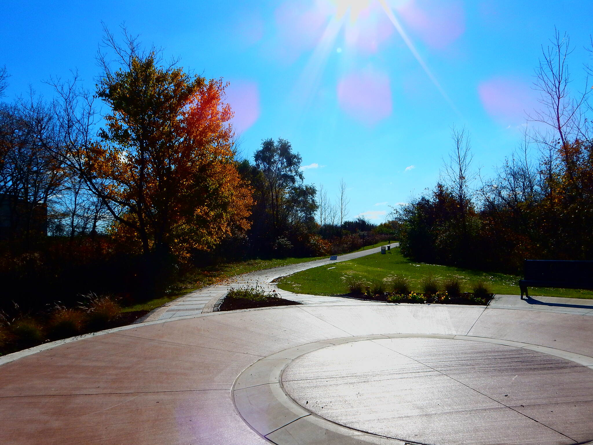 Erie Lackawanna Trail New Plaza near Crown Point This plaza is part of the new trailhead at 93rd and Chase.