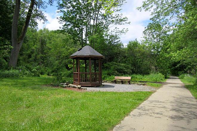 Ernst Bike Trail Gazebo along the trail Nice place to rest along the trail.