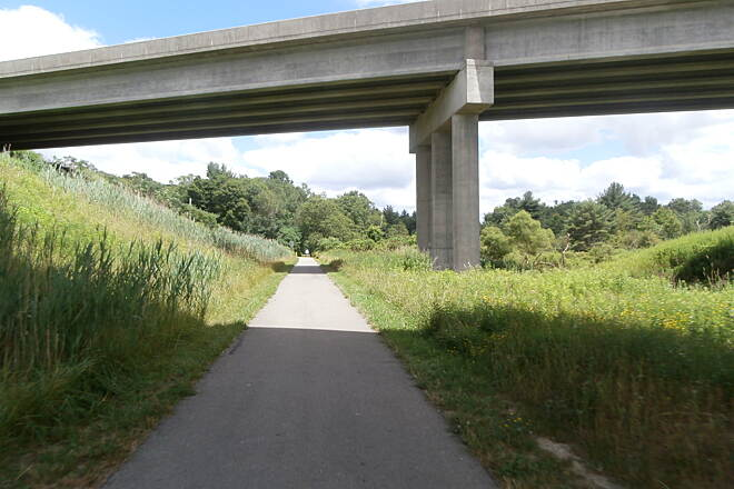 Ernst Bike Trail Ernst Trail-Summer, 2013 Trail goes under Interstate 79
