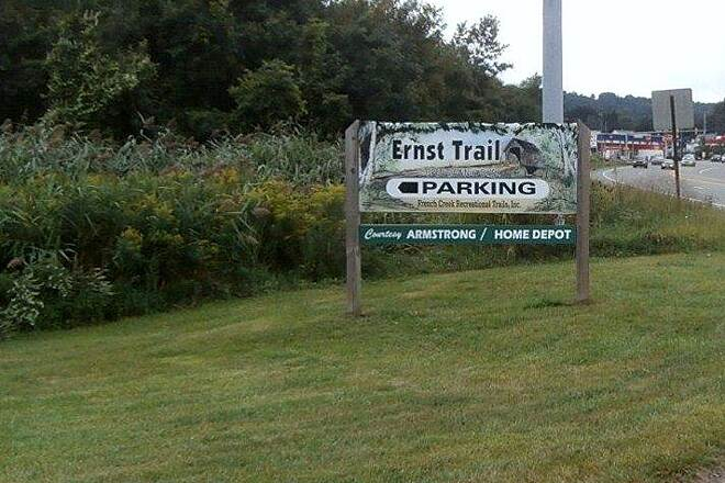 Ernst Bike Trail Meadville Parking Can't miss the trail sign along 322 in Meadville!