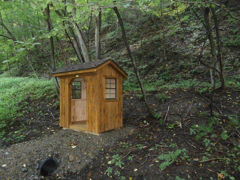 Ernst Bike Trail Small shelter Small shelter along the trail for if it rains