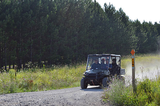 Escanaba to Hermansville Rail-Trail The multi-purpose trail is open to ATV use. Photo Courtesy Michigan DNR