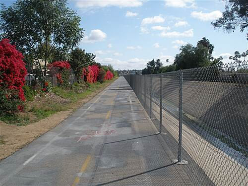 Escondido Creek Bike Path  Just west of Midway Dr