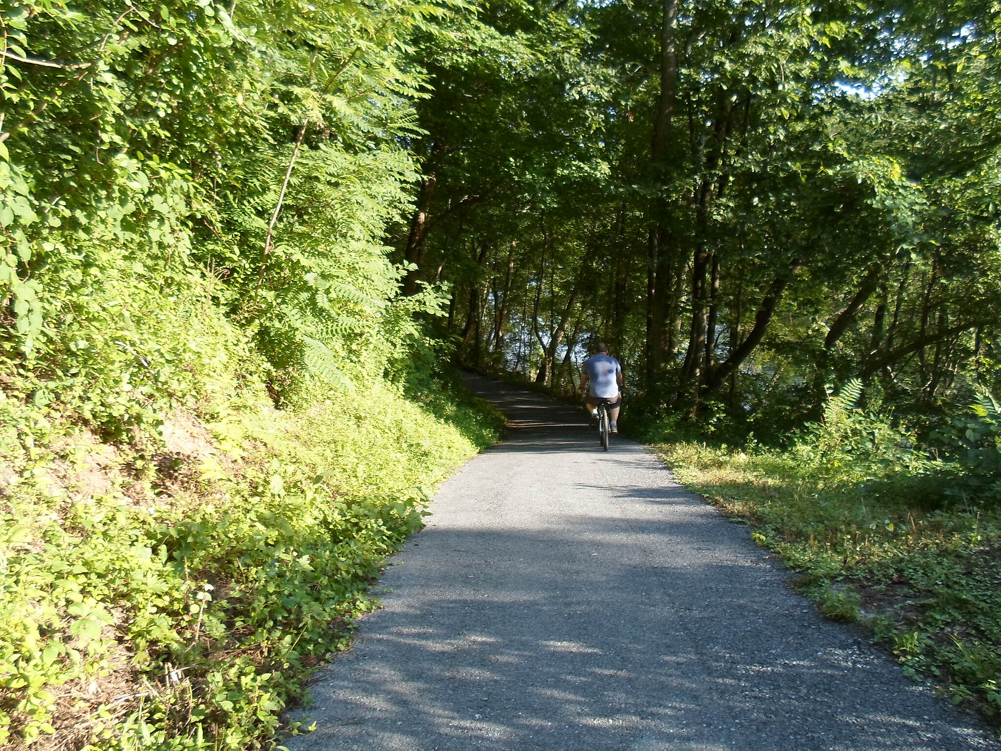 Exeter Scenic River Trail Exeter Scenic River Trail Cyclist coasting along the trail near the western terminus.