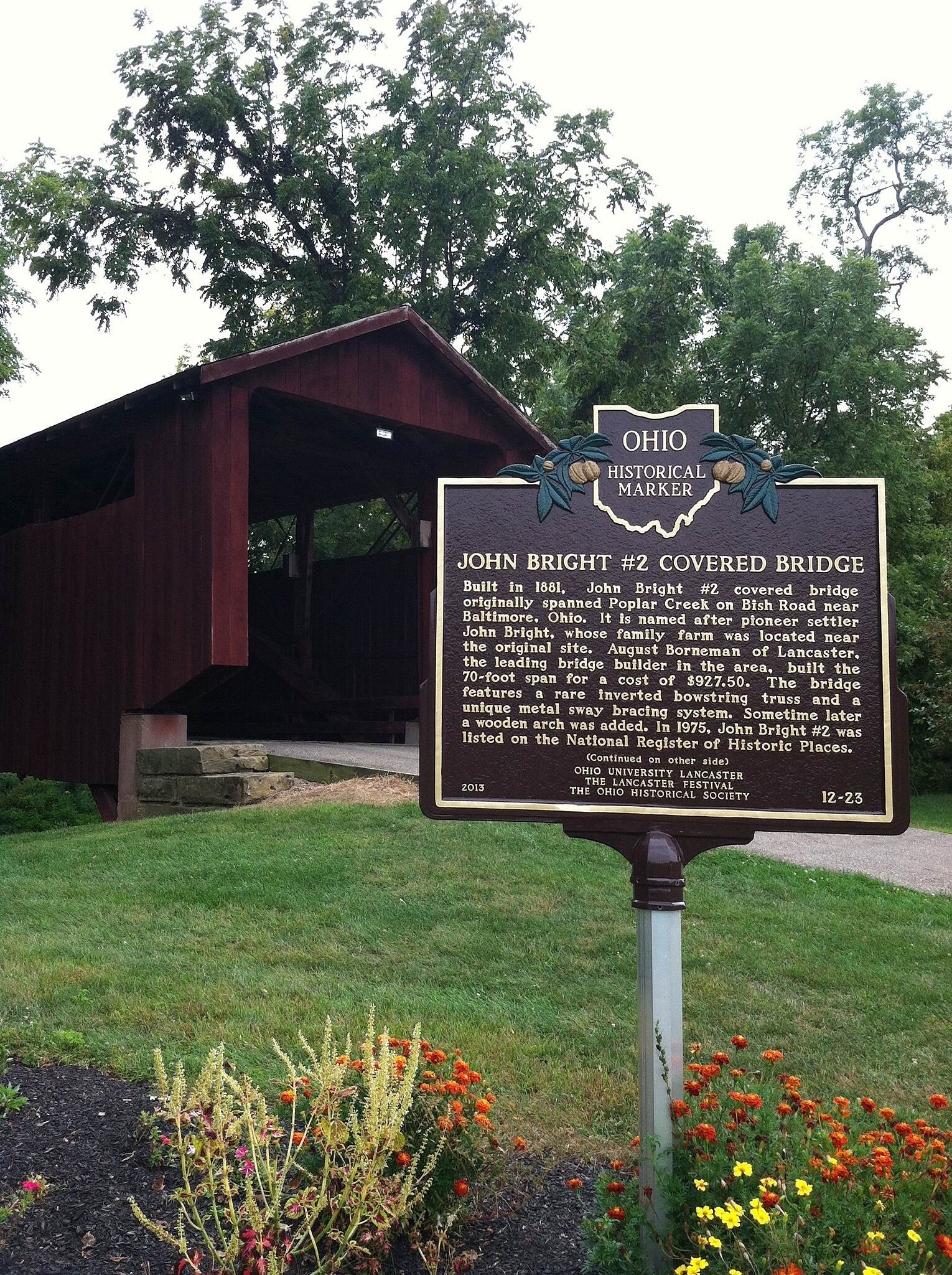 Fairfield Heritage Trail Historic bridge by Lancaster High School