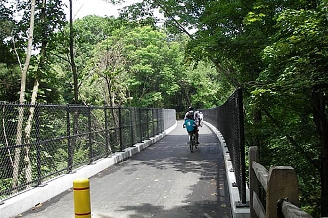 Farmington Canal Heritage Trail New Salmon river bridge  Very close to the Granby Station