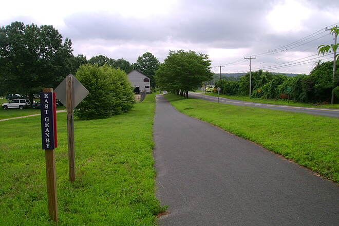 Farmington Canal Heritage Trail Granby-East Granby border
