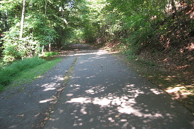 Farmington Canal Heritage Trail Trail as you leave New Haven