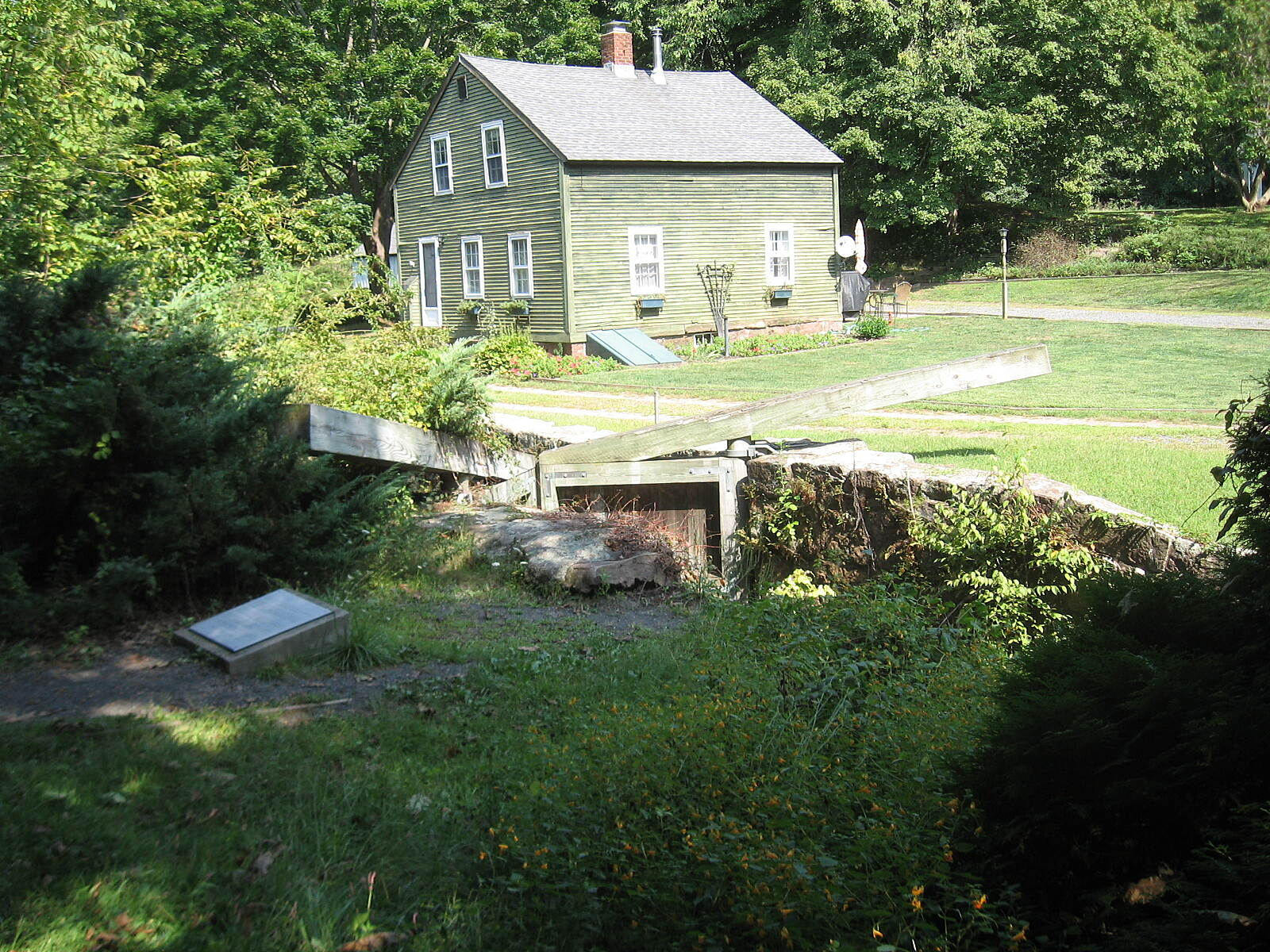 Farmington Canal Heritage Trail Restored lock near Cheshire