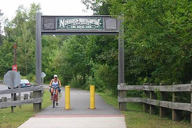 Farmington Canal Heritage Trail Farmington Canal Greenway Most trailheads in Cheshire are marked like the one photographed above.