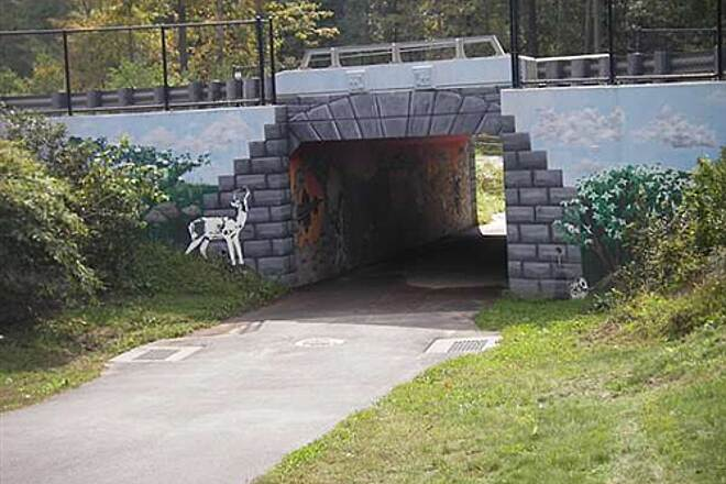 Farmington River Trail Farmington River Trail  Art work Rt 4 underpass