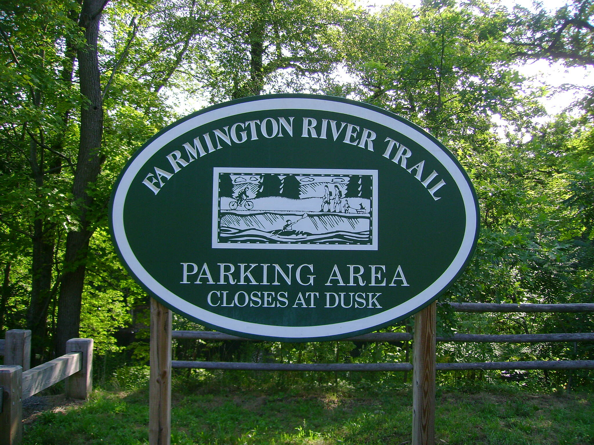Farmington River Trail Farmington's Farmington River Trail seal