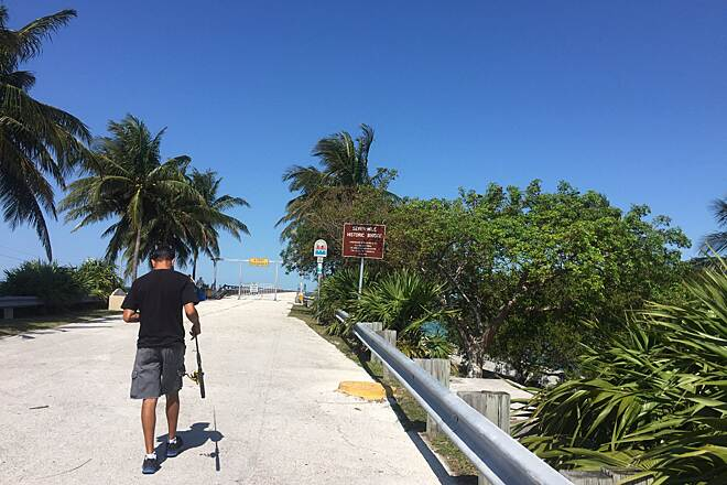 Florida Keys Overseas Heritage Trail Marathon 2nile portion of 7mile bride