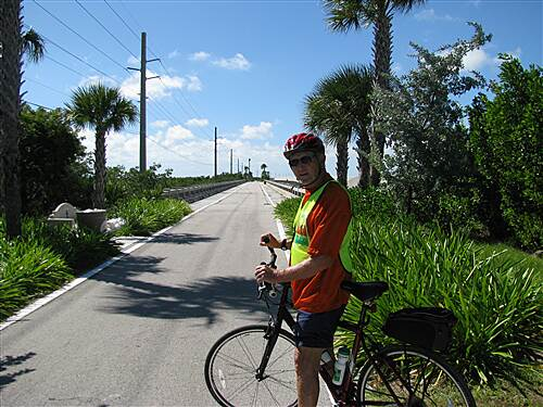 Florida Keys Overseas Heritage Trail Saddlebunch section of the FKOHT Tom Nelson on the trail Nov. 2007