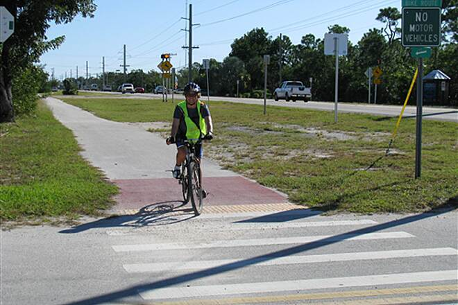 Florida Keys Overseas Heritage Trail FKOHT thru Big Pine Key Karen Knight rides on FKOHT thru Big Pine Key Nov 2007
