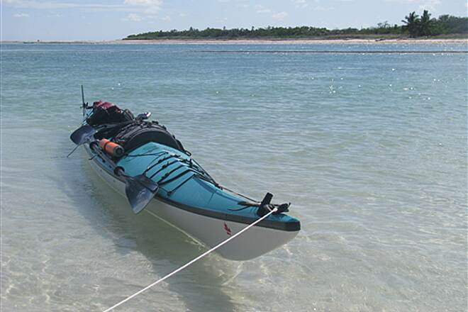 Florida Keys Overseas Heritage Trail Castaways Against Cancer 2008 sea kayak at Ohio-Bahia Honda Channel
