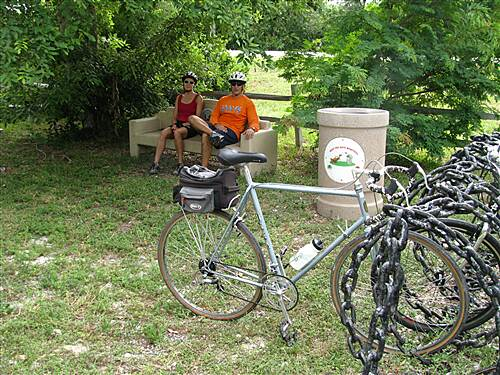 Florida Keys Overseas Heritage Trail Grassy Key Trail Taking a break on the Grassy Key Trail
