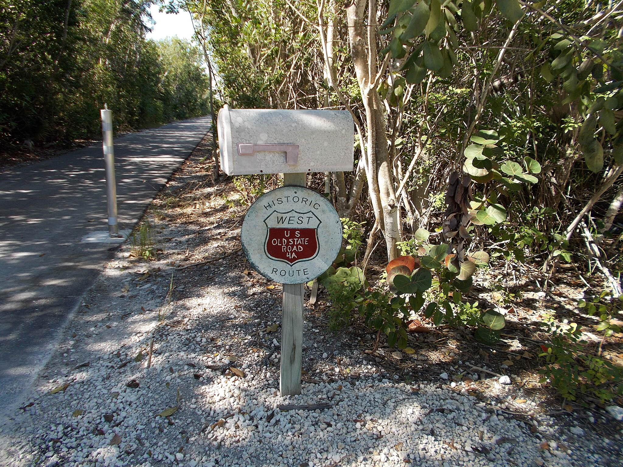 Florida Keys Overseas Heritage Trail FKOHT on Cudjoe Key The trail on Cudjoe Key is placed on top of historic Route 4A. Photo by Bob Youker.