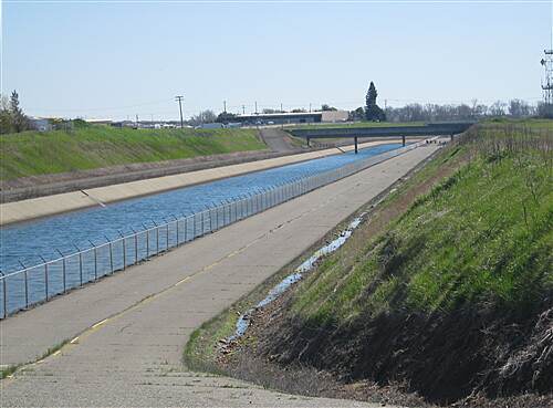Folsom South Canal Recreation Trail Folsom South Canal Looking southeast before Douglas Road
