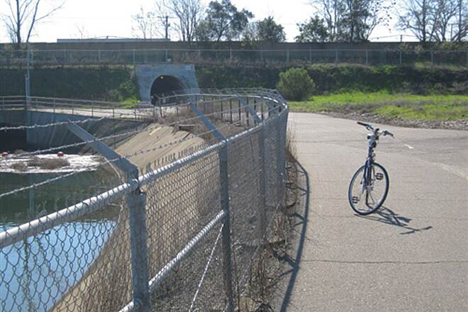 Folsom South Canal Recreation Trail U.S. 50 tunnel undercrossing The industrial flavor of the Canal