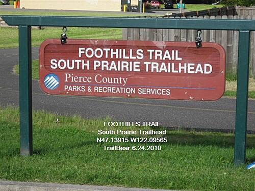 Foothills Trail THE FOOTHILLS TRAIL Souoth Praire Trailhead