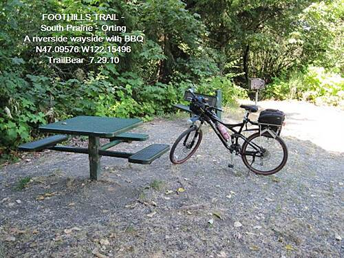 Foothills Trail FOOTHILLS TRAIL - S. Prairie - Orting This wayside has a BBQ.  Anyone got charcoal?