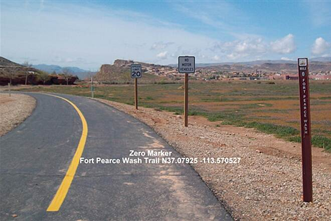 Fort Pearce Wash Trail Fort Pearce Wash trail Zero Marker