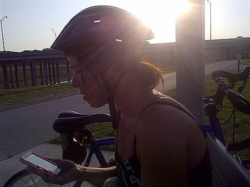 Fort Worth Branch (Trinity River Trails) Morning bike ride Rest-stop I-35 Fort worth