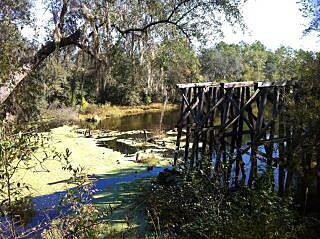 Four Freedoms Trail The end of the trail The old Rail Bridge at the end of the trail
