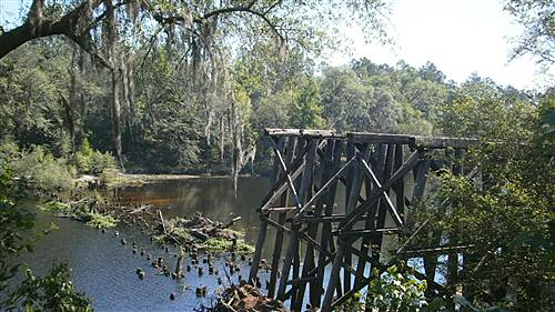 Four Freedoms Trail Four Freedoms Trail Old Trestle at Withlacoochee River
