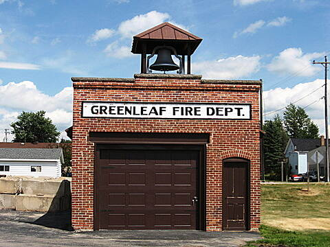 Fox River State Trail Classic Greenleaf firehouse