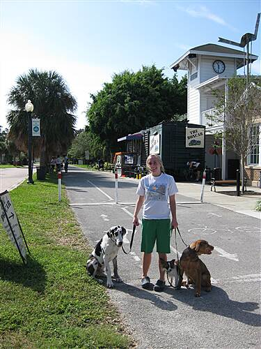 Fred Marquis Pinellas Trail Main Street and Trail Downtown Dunedin