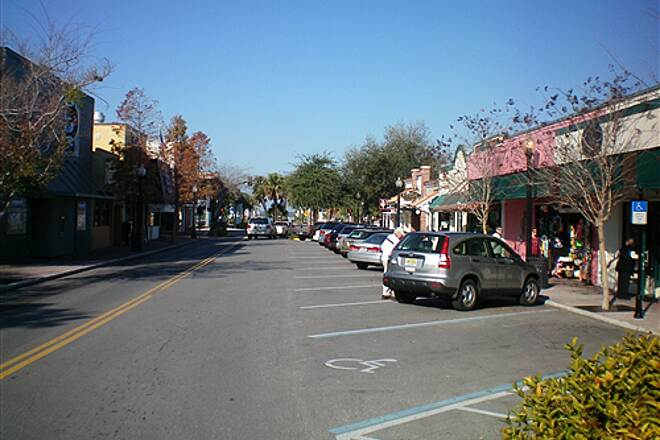 Fred Marquis Pinellas Trail Downtown Dunedin - Main Street The trail goes through the town