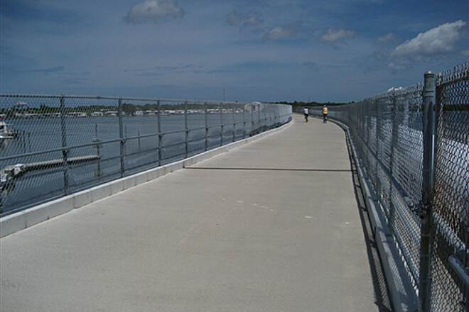 Fred Marquis Pinellas Trail Cross Bayou Bridge Crossing over Boca Ciega Bay, Bay Pines Area
