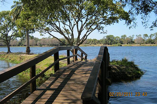 Fred Marquis Pinellas Trail   Walking bridge in Taylor Park.