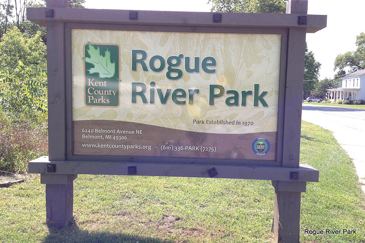 Fred Meijer White Pine Trail State Park Rogue River Park Parking and restrooms