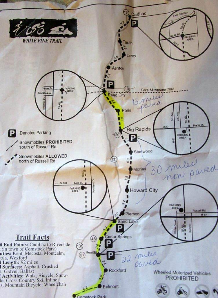 Fred Meijer White Pine Trail State Park Trail Map Download one today on White Pine Trail's Website.