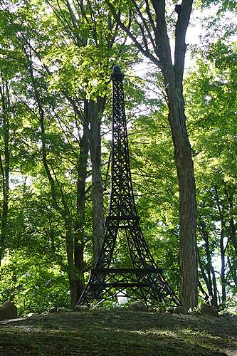Fred Meijer White Pine Trail State Park Paris County Park Smaller replica of Eiffel Tower in Paris County Park along the trail