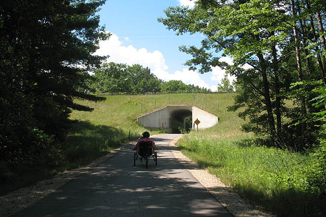 Fred Meijer White Pine Trail State Park Tunnel under M115 Tunnel under M115, just south of Cadillac
