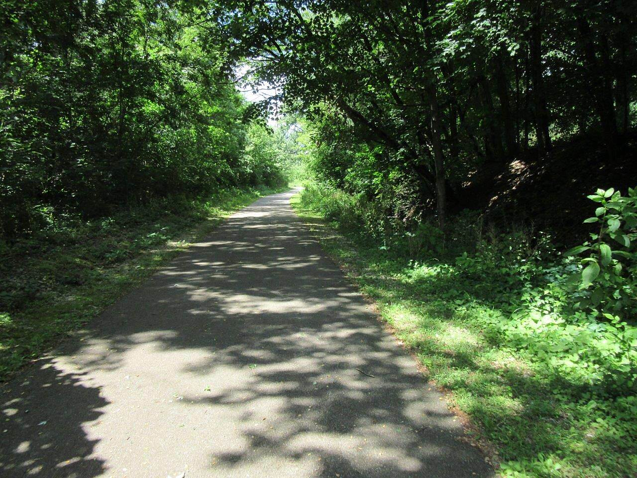 Freedom Trail (OH) Nice shaded area-June, 2017 Trail offers open areas (full sun) and shaded with trees areas!