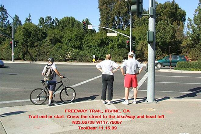 Freeway Trail THE FREEWAY TRAIL, IRVINE, CA. Trail end - the Freeway Trail at the JOST