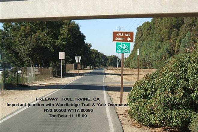 Freeway Trail FREEWAY TRAIL, IRVINE, CA Connections!  Yale Overpass and Woodbridge Trail Jct.