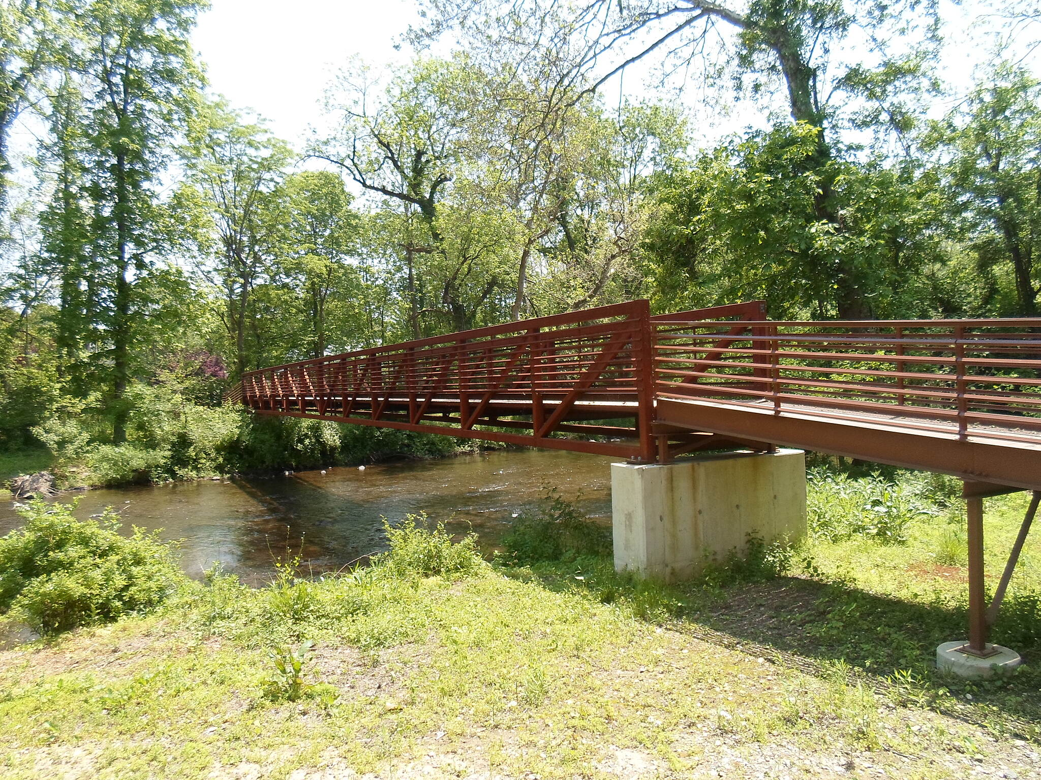 French Creek Trail French Creek Heritage Trail After following the north bank of French Creek, the trail crosses a second time on this footbridge, located just east of Hares Hill Road.