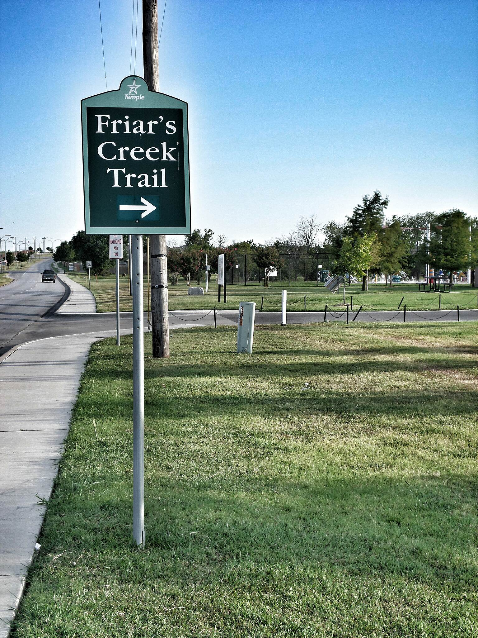 Friars Creek Hike & Bike Trail Beginning of the trail