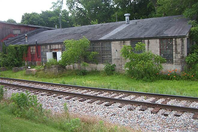 Galena River Trail  Old railside warehouses