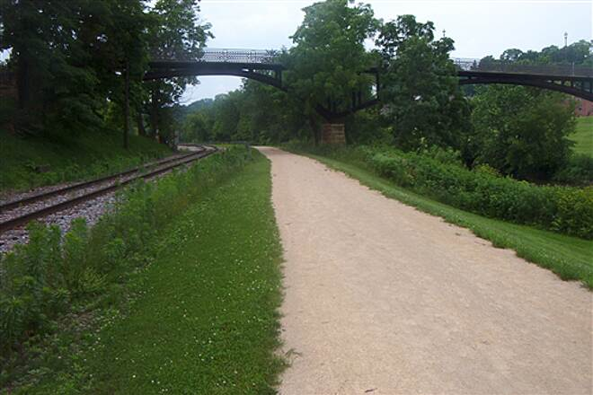 Galena River Trail  Rail, trail & bridge