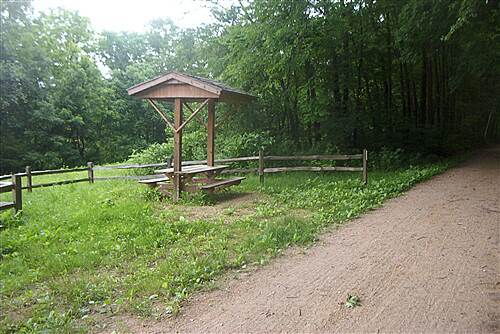 Galena River Trail  Rest stop shelter
