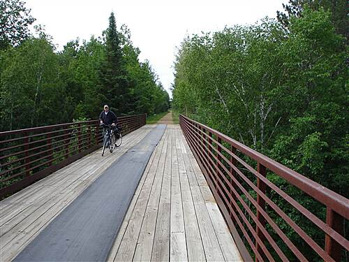 Gandy Dancer Trail - Northern Section Crossing into Minnesota