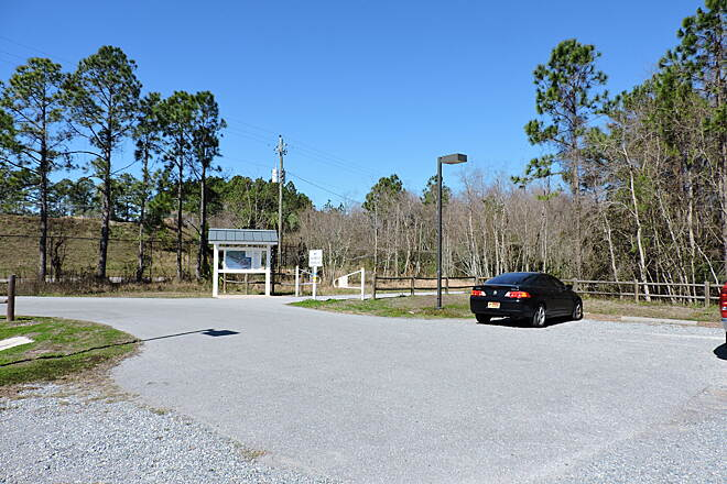 Gayle's Trails North Gulf Boulevard Trailhead Parking and trailhead at the northern end of Gulf Boulevard. This is the easternmost trailhead with parking dedicated for trail users. There are no restroom facilities at this trailhead. Gulf Blvd is the road where Panama City Beach Harley dealership is.
