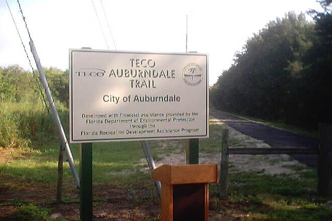 General James A. Van Fleet State Trail Auburndale - TECO Trail The Auburndale - TECO Trail is now officially open to public. Someday it will connect to the Van Fleet Trail.